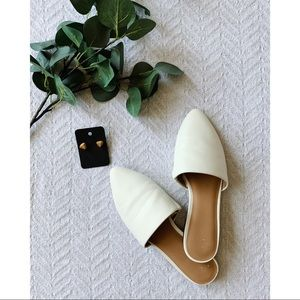 a new day Brand White Slip On Flats